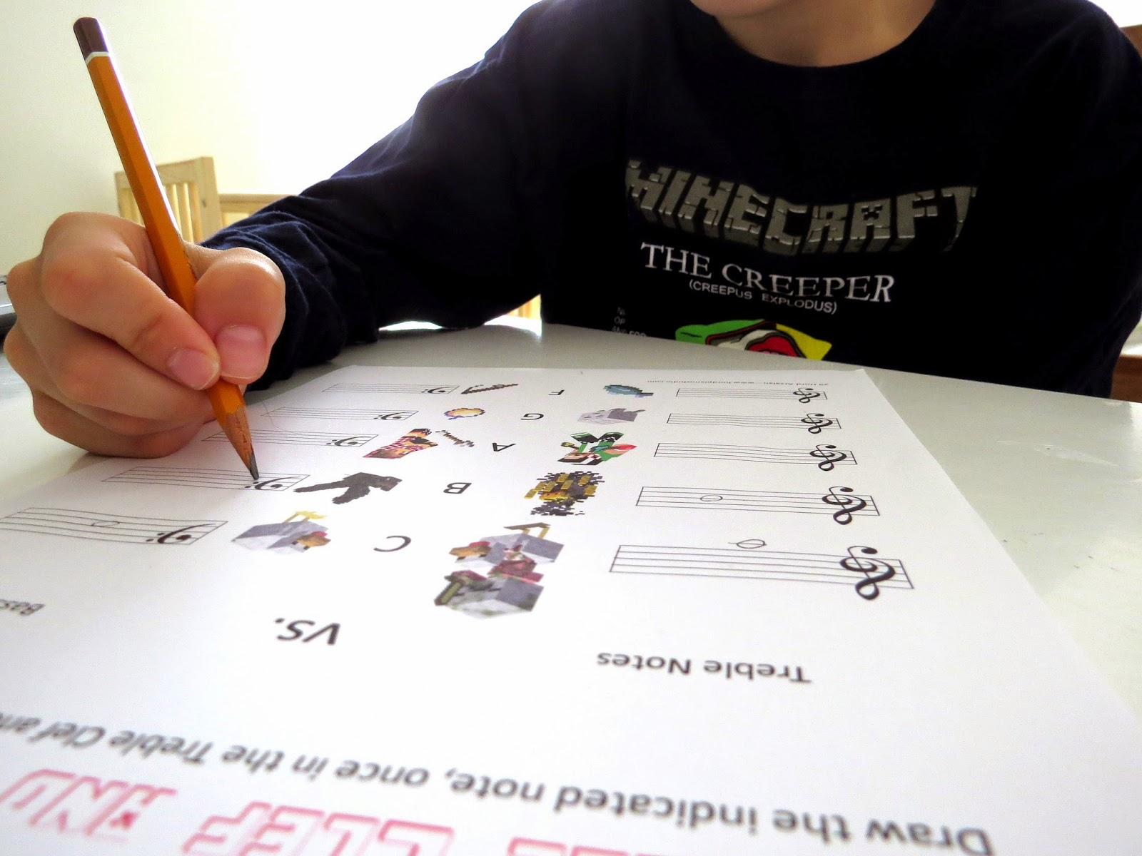 Hord S Studio Minecraft Themed Music Worksheets