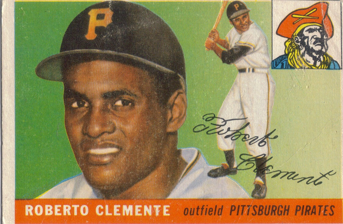 Foul Bunt 1955 Topps 164 Roberto Clemente
