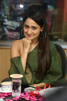 Pragya Jaiswal in a single Sleeves Off Shoulder Green Top Black Leggings promoting JJN Movie at Radio City 10.08.2017 035.JPG