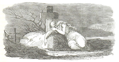 Illustration of weeping woman from 1844