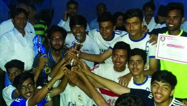 फुटबॉल प्रतियोगिता में आजाद स्पोर्टस क्लब ने जीता मैच