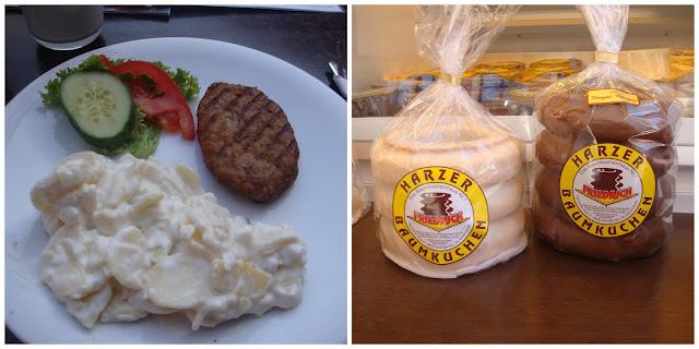 comendo em Quedlinburg, Alemanha - Harzer Baumkuche