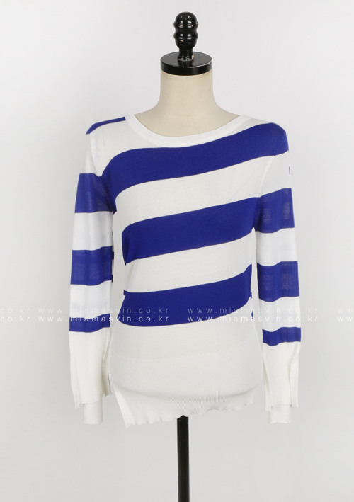 Striped Patterned Slim Fit Knit Top