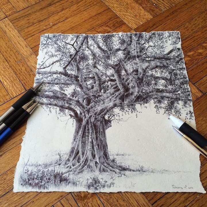 07-Dina-Brodsky-Tree-Drawings-www-designstack-co