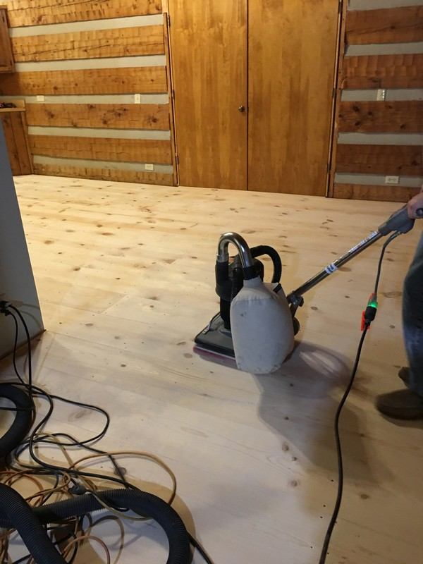 DIY Wide Plank Pine Floors Finishing | Sanding