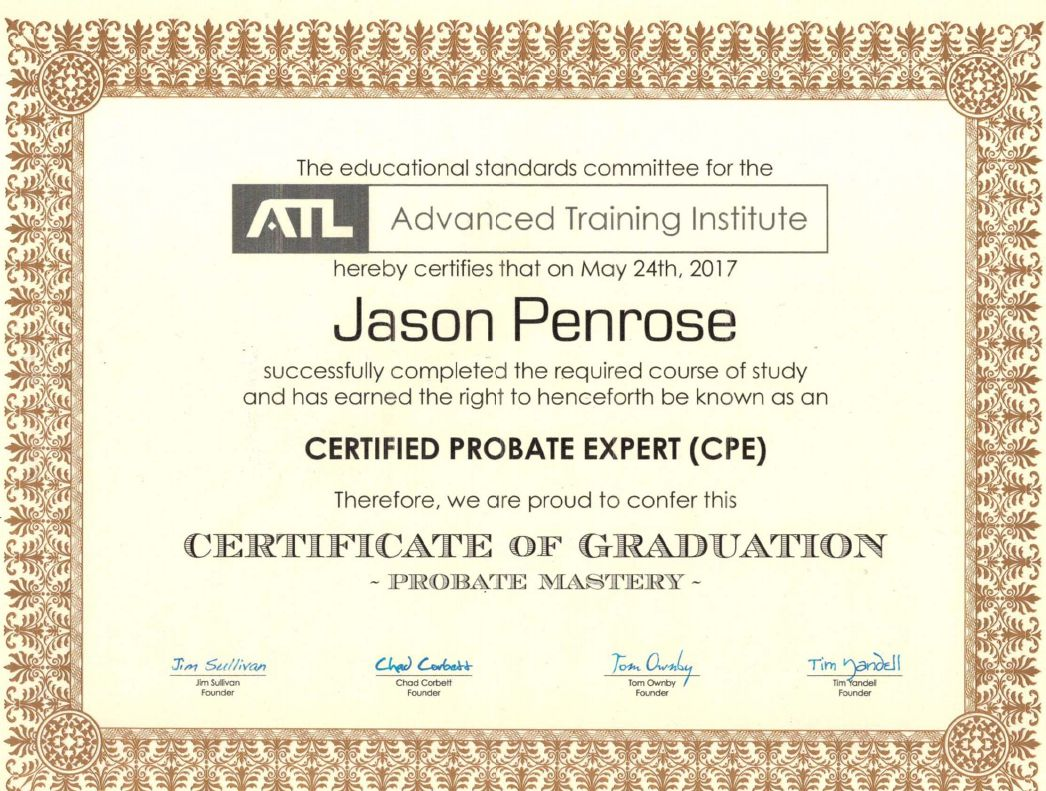 Jasonpenrosecertificateeg are xflitez Images
