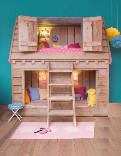 cama casa en dormitorios infantiles dormitorio casita de. Black Bedroom Furniture Sets. Home Design Ideas