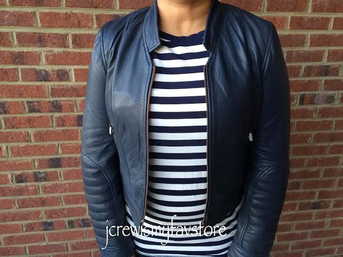 4e5c7d434 J. Crew Collection Standing-Collar Leather Jacket - jcrewismyfavstore