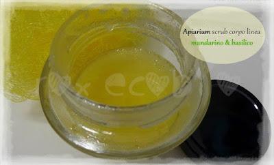 Apiarium scrub corpo mandarino e basilico