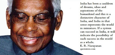 kr narayanan quotes