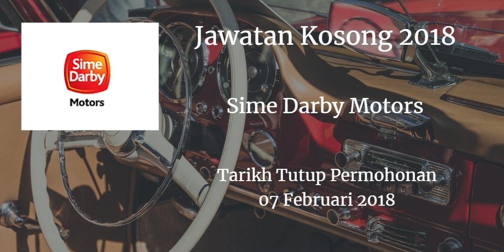 Jawatan Kosong Sime Darby Motors 07 Februari 2018