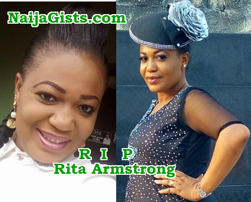 nollywood actress rita Armstrong dead