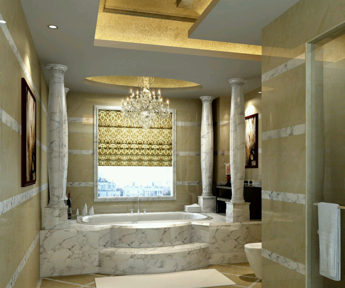 luxury bathrooms 2017 - Grasscloth Wallpaper