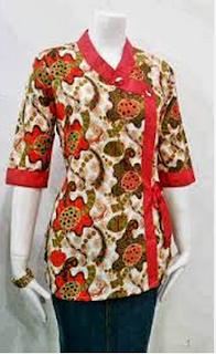 Model Baju Batik Kerja Bank