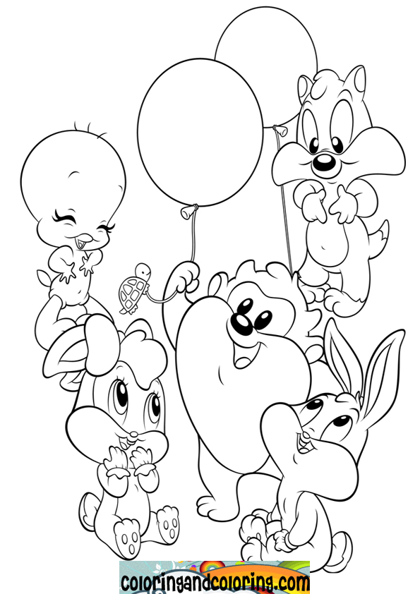 baby loony tunes coloring pages - photo#15