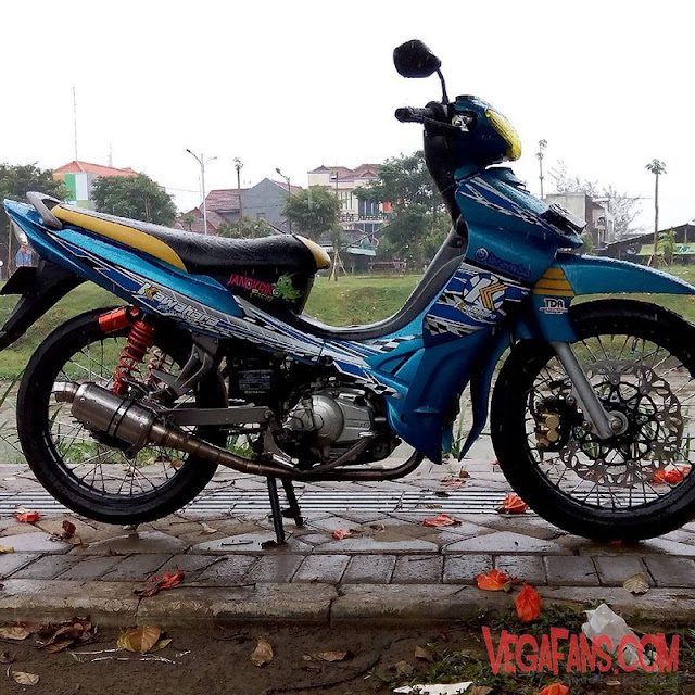 Modifikasi Jupiter Z Biru Road Race Simple
