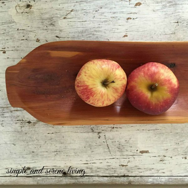 apples wood bowl
