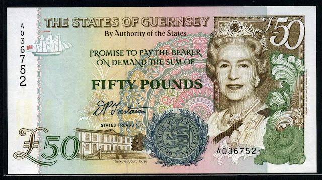 British notes Guernsey fifty pounds banknote currency images