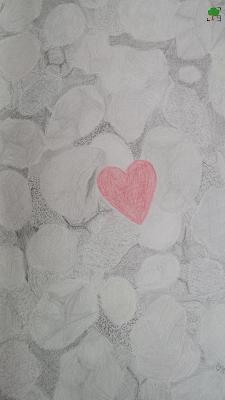 duży obrazek rysunku; rok dwóch żywiołów, Budka Suflera, kamień i serce