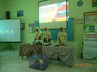 Inilah Foto-foto Finalis 10 Besar Lomba Karya Tulis Ilmiah Tingkat SMP Se Jawa Timur di SMA Hidayatus Salam Gresik