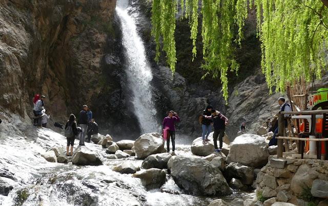 Wasserfall von Setti-Fatma, Wanderung im Ourika-Tal, Marokko
