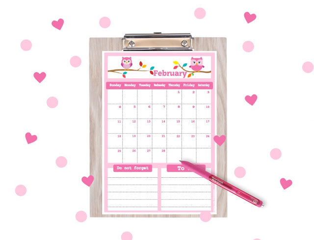 printable february 2018, printable february 2018 planner, february calendar, planner printable, free planner, free printables, free calendar printables, calendar for boys, calender in Kawaii style, cute calendar, Happy with Printables calendar