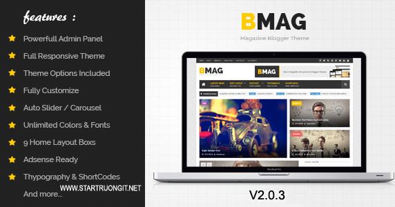 [Template] Bmag V2.0.3 Mẫu Blogspot tin tức cực tốt mới nhất 2016