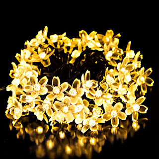 Y-ZONE Solar Christmas Blossom string Lighting 23ft 50 LED 8 Modes Warm White Flower Fairy Lights For Xmas Tree, Garden, Holiday, Home Decorative, Outdoor and Indoor by Y-ZONE
