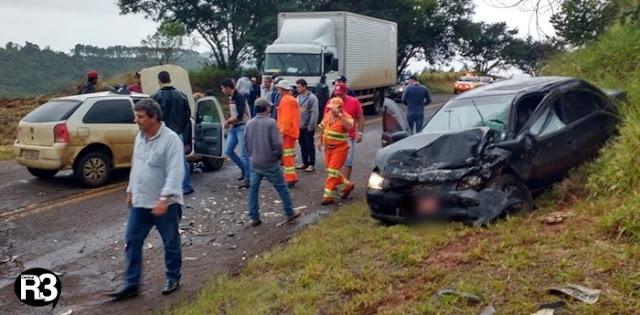 Acidente de trânsito com vítima fatal na PR-462