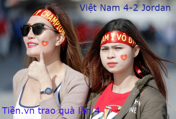 Tiền.vn trao quà lần 4: Việt Nam thắng Jordan