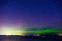 Zorza polarna sfotografowana w noc z 27 na 28.09.2017. Rewa, pomorskie. Autor: Marek Stan