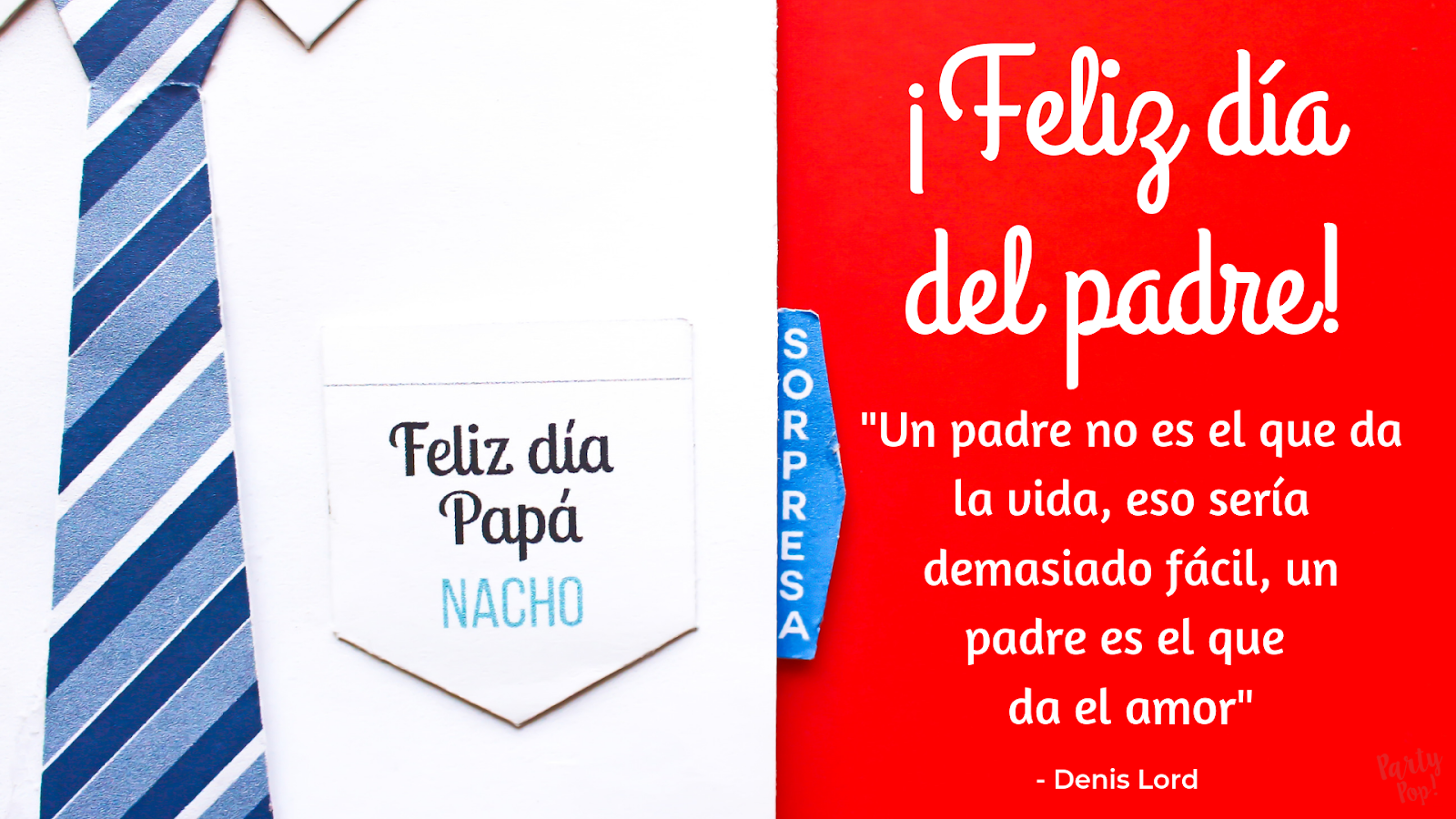 Tarjeta Para El Día Del Padre Party Pop