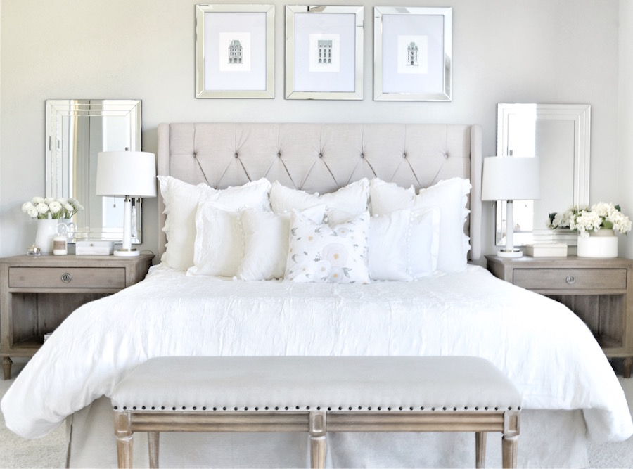 Interiores dormitorio glam chic