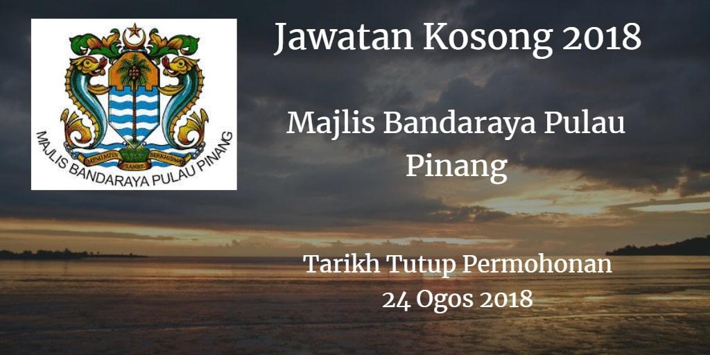 Jawatan Kosong MBPP 24 Ogos 2018