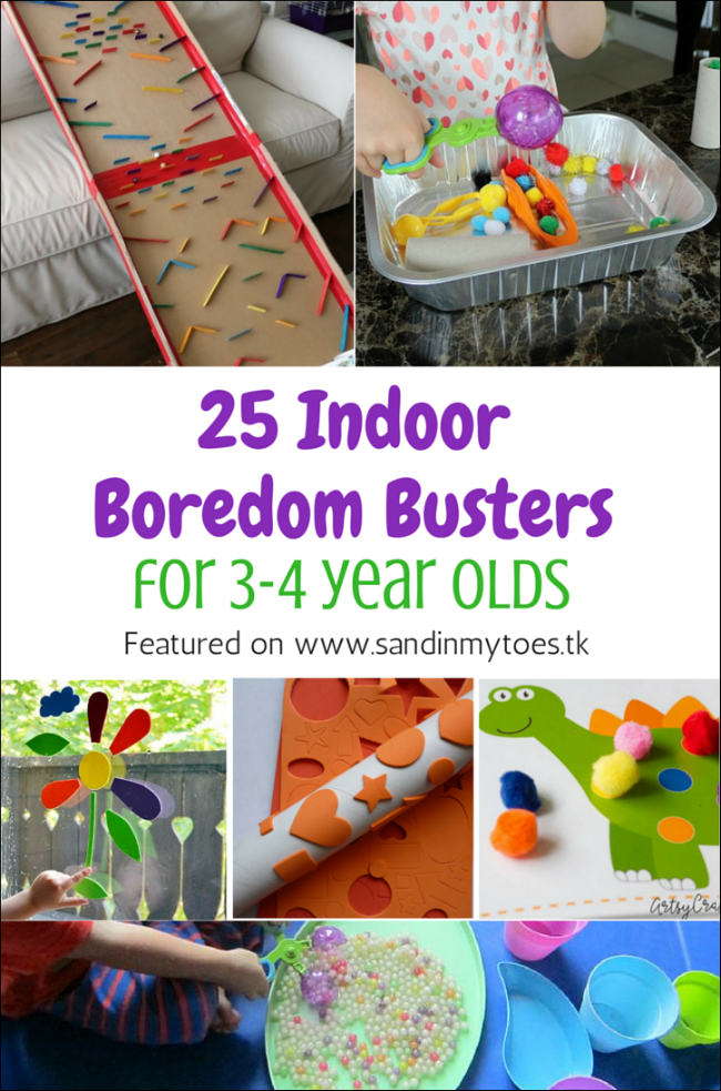 25 indoor boredom busters for 3 4 year olds sand in my toes
