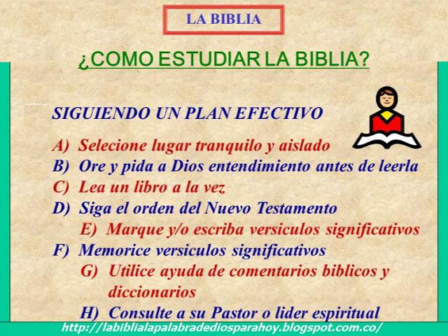 Métodos para estudiar la Biblia