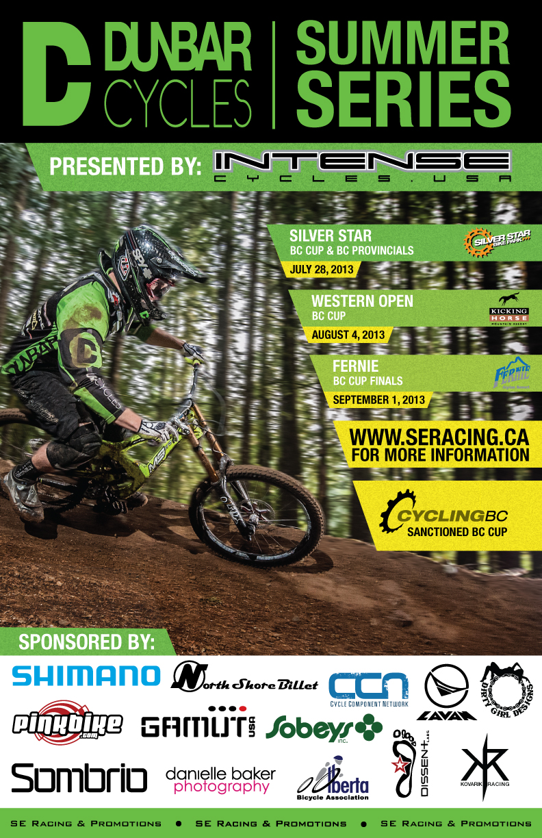 e667a437f Dunbar Cycles and SE Racing and Promotions have teamed up to bring you what  will prove to be the finest rounds of the BC Cup DH Race Series!!