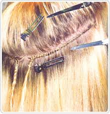 The L A Weave Is One Of Newest Methods Lication Available Micro Rings Are Used To Form Track Instead Braid