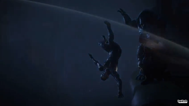 Mass Effect Andromeda EA E3 2016 trailer presentation descent fall off cliff