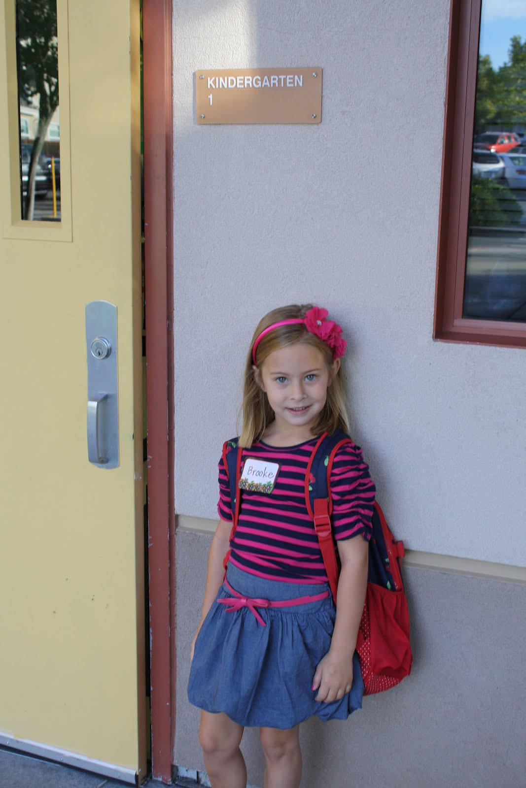 Kinder Garden: The Seffens Family Blog: First Day Of Kindergarten