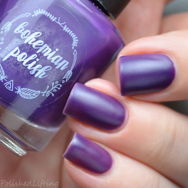 purple matte nail polish