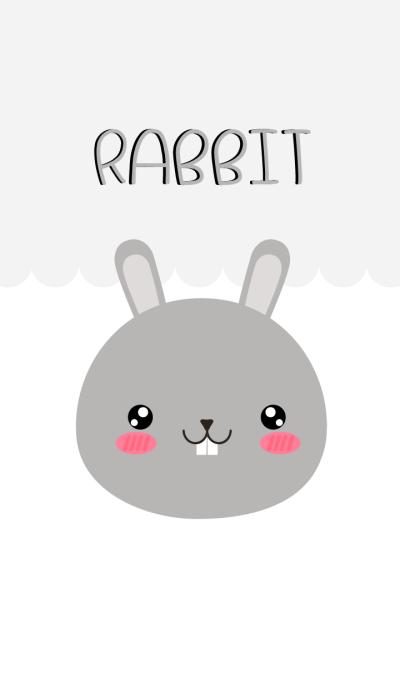 Simple Lovely Gray Rabbit Theme