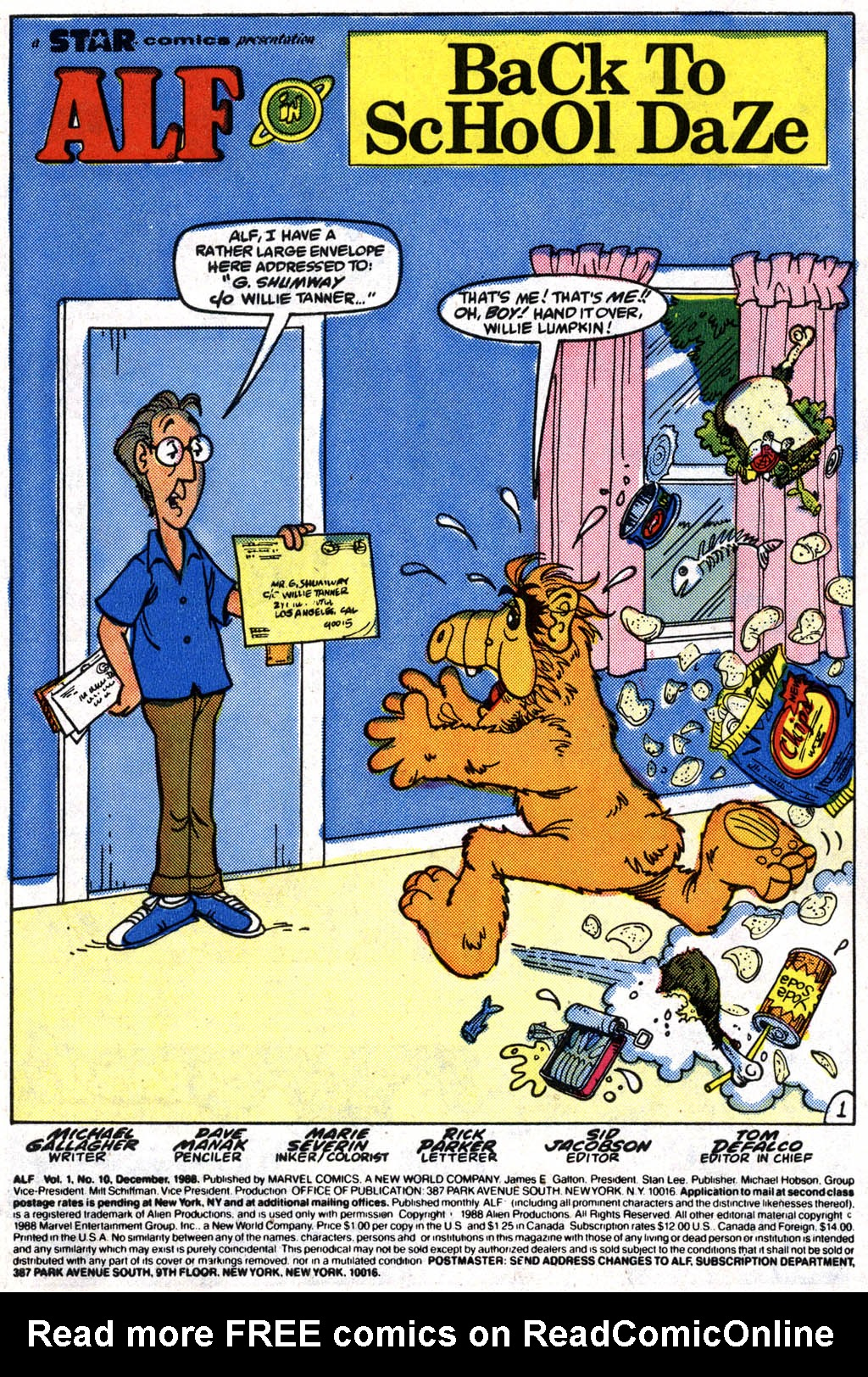 Read online ALF comic -  Issue #10 - 2