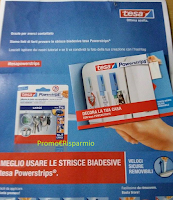 Logo Campioni omaggio Powerstrips by Tesa in consegna