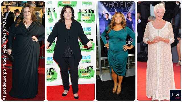 Celebridades con cuerpo de Óvalo / Celebrities with Oval body shape  L-vi.com