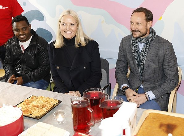 Crown Princess Mette-Marit-wore Stella McCartney Coat and Prada Stretch Suede Boot