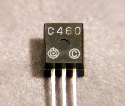 Macro image of a 2SC460 transistor