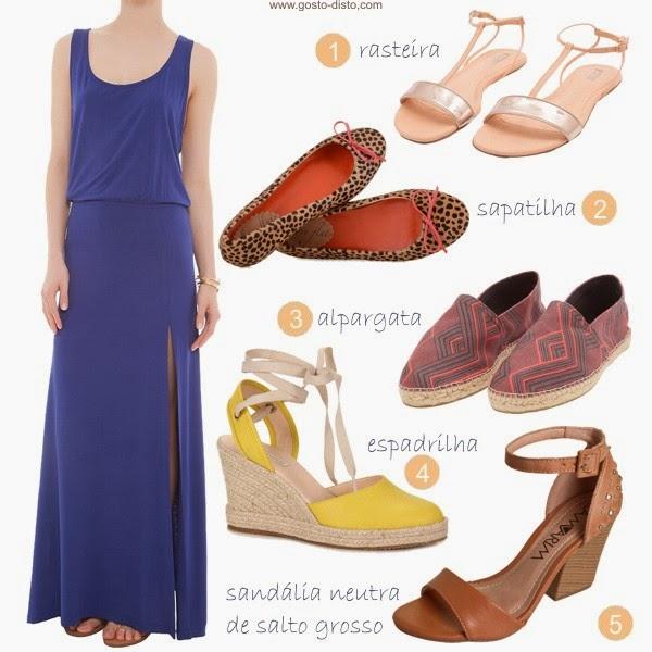 d368dfa75 Gosto Disto!: Que sapato usar com uma maxi saia ou um maxi vestido?