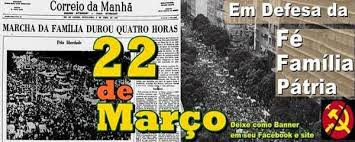Jornal da época dando manchete sobre os fatos da manifestação feita pelas mulheres e pela família brasileira