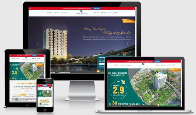 Templates blogspot bất động sản chuẩn seo dự án Hoàng Cầu